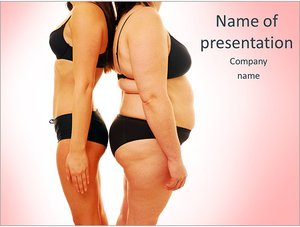 Шаблон презентации PowerPoint: Толстая и худая женщины