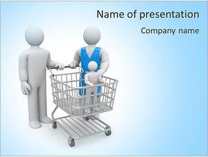 Шаблон презентации PowerPoint: Поход за покупками по магазинам