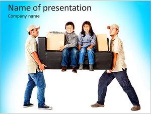 Шаблон презентации PowerPoint: Грузчики и грузоперевозки
