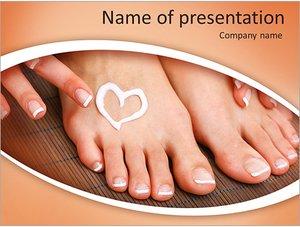 Шаблон презентации PowerPoint: Уход за ногами с кремом