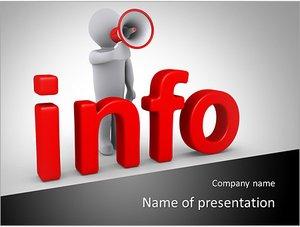 Шаблон презентации PowerPoint: Человек с громкоговорителем