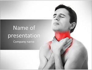 Шаблон презентации PowerPoint: Боль в горле