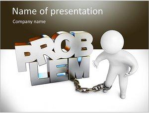 Шаблон презентации PowerPoint: Человек не может решить проблемы