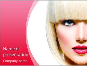 Шаблон презентации PowerPoint: Девушка из салона красоты