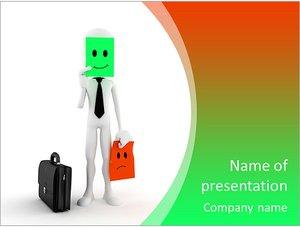 Шаблон презентации PowerPoint: Бизнесмен меняет настроение