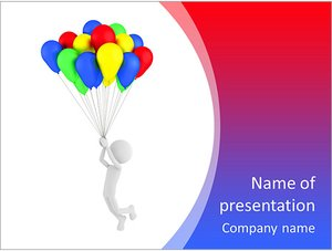 Шаблон презентации PowerPoint: Человек на воздушных шарах