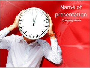 Шаблон презентации PowerPoint: Человек часы