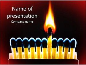Шаблон презентации PowerPoint: Горящая спичка