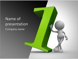 Шаблон презентации PowerPoint: Бизнесмен лидер