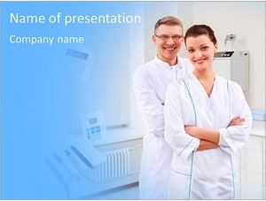 Шаблон презентации PowerPoint: Стоматологи в клинике
