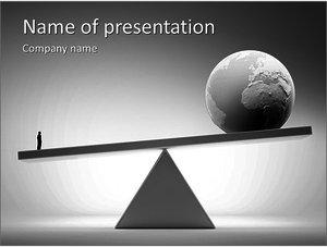 Шаблон презентации PowerPoint: Бизнесмен против всего мира