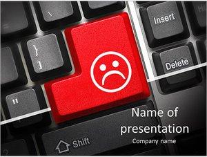 Шаблон презентации PowerPoint: Кнопка грустный смайл