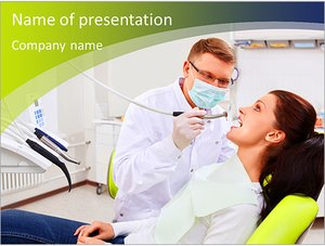 Шаблон презентации PowerPoint: Стоматолог лечит зубы