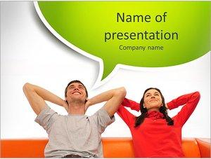 Шаблон презентации PowerPoint: Счастливая пара