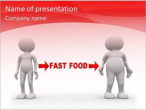Шаблон презентации PowerPoint: Вред фастфуда, ожирение
