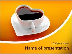 Шаблон презентации PowerPoint: Чашка для любителей кофе