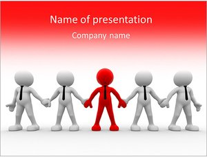 Шаблон презентации PowerPoint: Бизнес команда с лидером