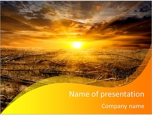 Шаблон презентации PowerPoint: Вырубка лесов