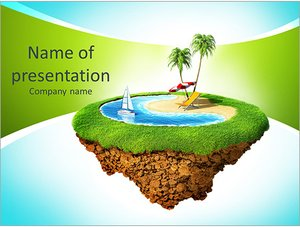 Шаблон презентации PowerPoint: Райское место для отдыха