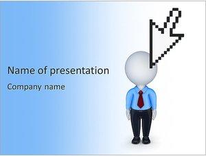 Шаблон презентации PowerPoint: Курсор и фигурка человека