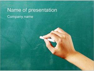 Шаблон презентации PowerPoint: Запись мелом на доске
