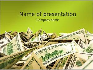Шаблон презентации PowerPoint: Куча денег (доллары)