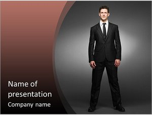 Шаблон презентации PowerPoint: Мужчина в костюме