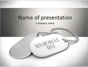 Шаблон презентации PowerPoint: Металлические жетоны на шею