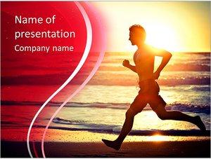 Шаблон презентации PowerPoint: Утренняя пробежка по пляжу