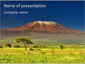 Шаблон презентации PowerPoint: Гора Килиманджаро