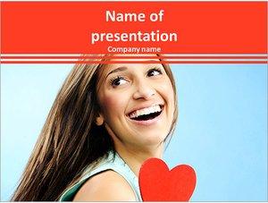 Шаблон презентации PowerPoint: Влюбленная девушка
