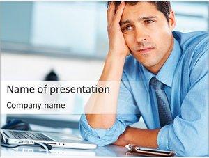 Шаблон презентации PowerPoint: Уставный офисный работник