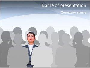 Шаблон презентации PowerPoint: Лидер в толпе