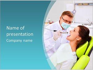 Шаблон презентации PowerPoint: Пациент на приеме у стоматолога