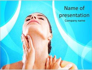 Шаблон презентации PowerPoint: Женщина ухаживает за кожей и телом