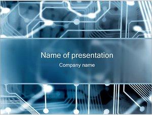 Шаблон презентации PowerPoint: Электронная схема