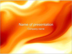 Шаблон презентации PowerPoint: Оранжевые разводы