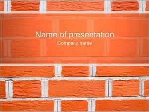 Шаблон презентации PowerPoint: Кирпичная стена