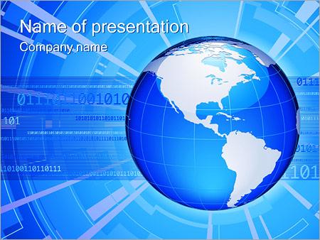 Шаблон презентации Глобальное соединение - Титульный слайд