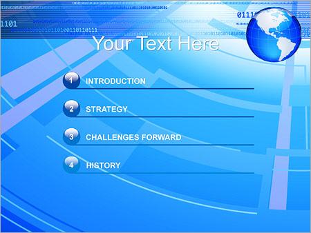Шаблон для презентации Глобальное соединение - Третий слайд
