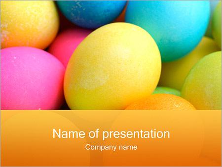 Шаблон презентации Разноцветные яйца - Титульный слайд