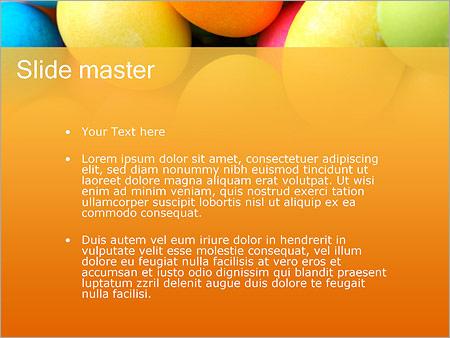 Шаблон PowerPoint Разноцветные яйца - Второй слайд