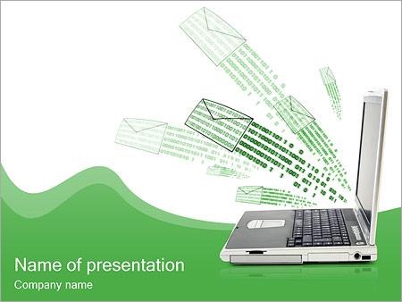 Шаблон презентации Электронные письма - Титульный слайд