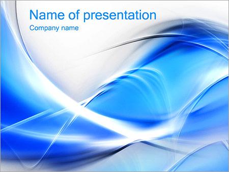 Шаблон презентации Синие абстрактные волны - Титульный слайд