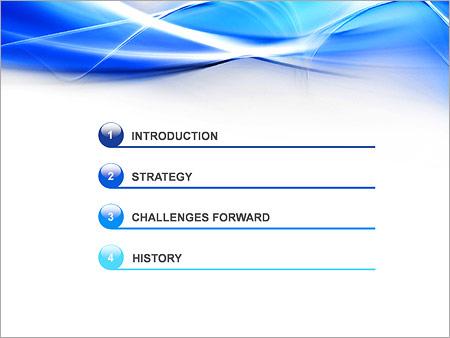 Шаблон для презентации Синие абстрактные волны - Третий слайд
