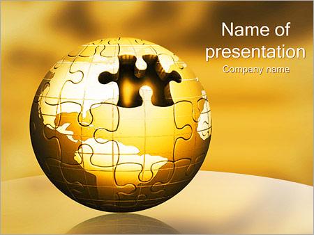 Шаблон презентации Земной шар из паззлов - Титульный слайд