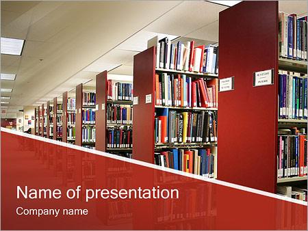 Шаблон презентации Библиотека - Титульный слайд