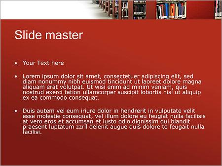 Шаблон PowerPoint Библиотека - Второй слайд