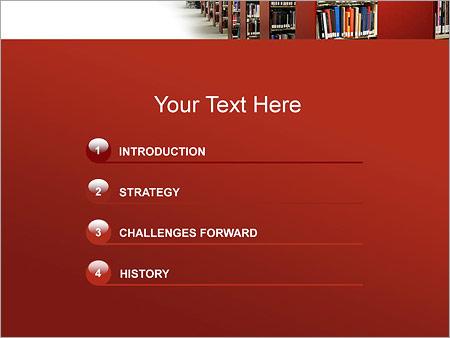 Шаблон для презентации Библиотека - Третий слайд