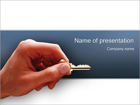Шаблон презентации Ключ от квартиры - Титульный слайд